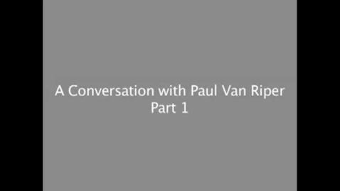 Thumbnail for entry Lt General Paul van Riper on Leadership