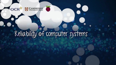Thumbnail for entry Reliability of computer systems - Part B