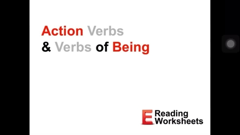 Thumbnail for entry Being verbs video