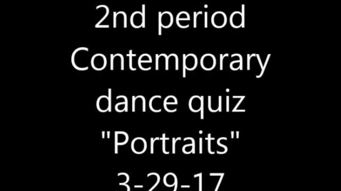 Thumbnail for entry Movie of Portraits contemporary quiz 3-29-17