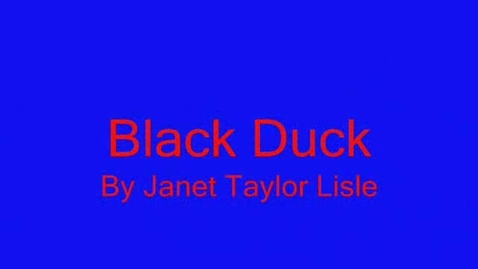 Thumbnail for entry Black Duck by Janet Taylor Lisle
