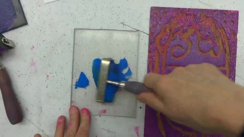 Thumbnail for entry Linoleum Block Print 8: Using Color for Emphasis 1