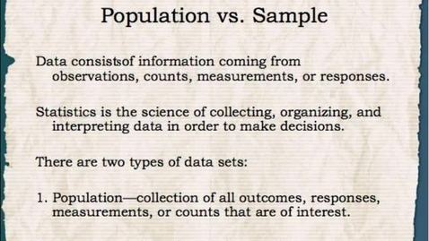 Thumbnail for entry Math 1: Data Analysis Process 1