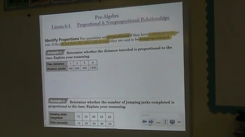 Thumbnail for entry PA Lesson 6-4 Proportional & Nonproportional Relationships