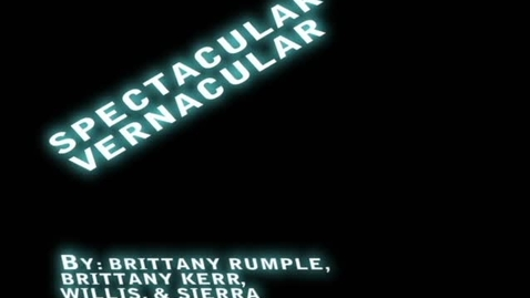 Thumbnail for entry Spectacular Vernacular Groove Thing - WSCN (2009-2010)