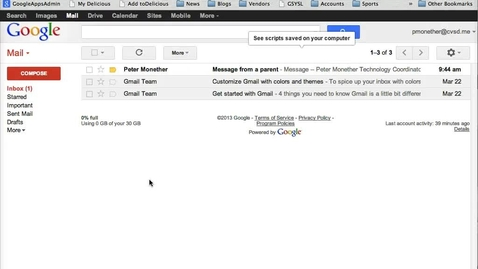 Thumbnail for entry Creating Labels (folders) in Gmail for Organizing Messages