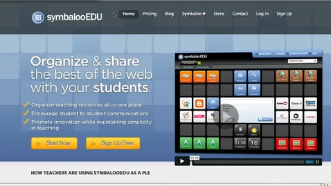 Thumbnail for entry SymbalooEDU Overview