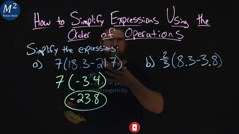 Thumbnail for entry How to Simplify Expressions with Decimals Using the Order of Operations | Part 1 of 2 | Minute Math