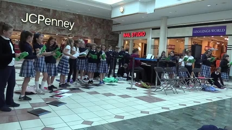 Thumbnail for entry St. Louis School Glee Club at Eastview Mall - Silent Night 12-6-17