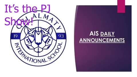 Thumbnail for entry QSI AIS Announcements November 16-20