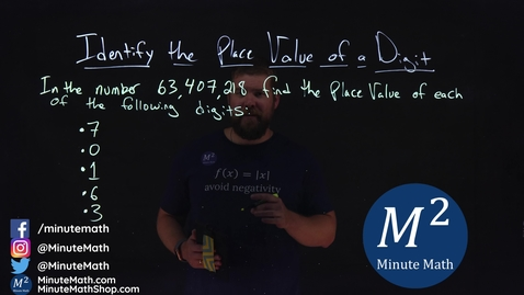 Thumbnail for entry Identify the Place Value of a Digit | 63,407,218 | Minute Math