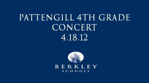 Thumbnail for entry Pattengill 4th Grade Concert 4/18/12