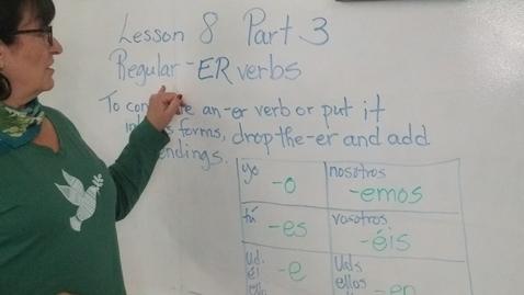 Thumbnail for entry Lesson 8 Part 3 -ER verbs