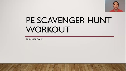 Thumbnail for entry PE Scavenger Hunt Workout 3-5