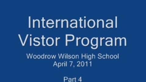 Thumbnail for entry International Visitor Leadership Program