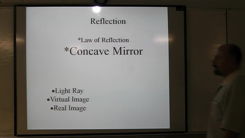 Thumbnail for entry Concave Mirror Ray Diagram video notes