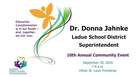 Thumbnail for entry Ladue Schools Superintendent Dr. Donna Jahnke speaks at LEF event