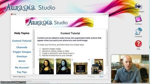 Thumbnail for entry Using the Aurasma program