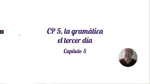 Thumbnail for entry CP 5 GRAM TERCER DIA