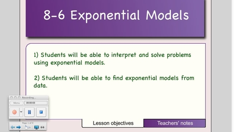 Thumbnail for entry 8-6 Applications of Exponentials