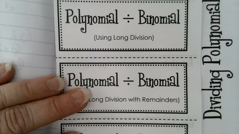 Thumbnail for entry Dividing Polynomials part 1