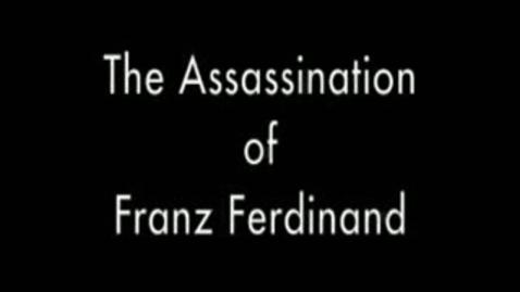 Thumbnail for entry Archduke Ferdinand Assassination Reenactment