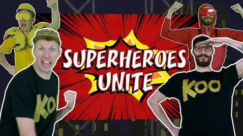 Thumbnail for entry Koo Koo Kanga Roo - Superheroes Unite (Dance-A-Long)