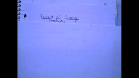Thumbnail for entry Percent of Change