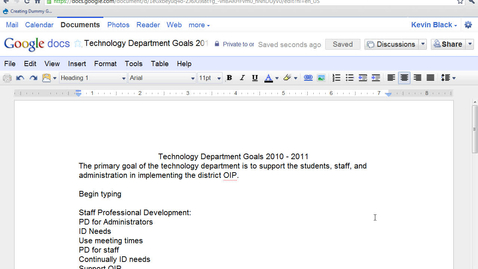 Thumbnail for entry Text Editing Commands in  Google Word Processing Documents