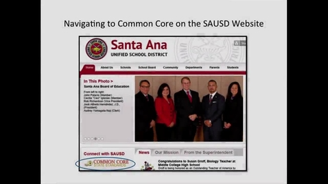 Thumbnail for entry Common Core Web Page Navigation Video