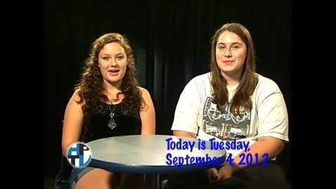 Thumbnail for entry Tuesday, September 4, 2012
