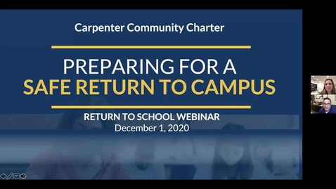 Thumbnail for entry Return to School Webinar