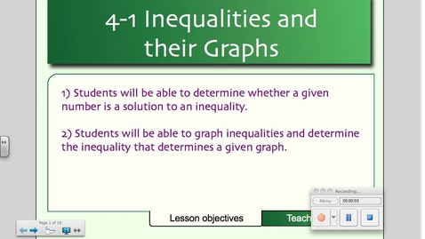Thumbnail for entry 4-1 Inequalities and their Graphs