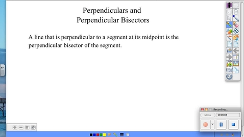 Thumbnail for entry BGeo 1.6 Perpendiculars and Perpendicular Bisectors