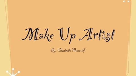 Thumbnail for entry Make-up Artist in the Film Industry