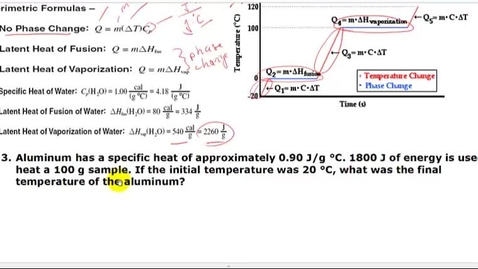Thumbnail for entry Solving for final temperature of a no-phase-change problem
