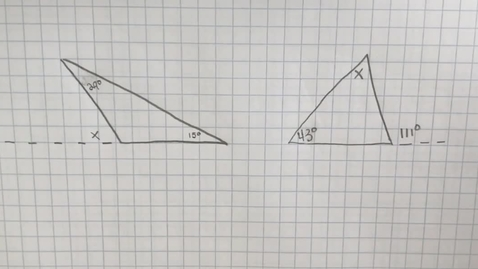 Thumbnail for entry Mr. Lamarre's Extra Help: Exterior Angles of Triangles