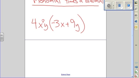 Thumbnail for entry Monomial times a binomial example 2