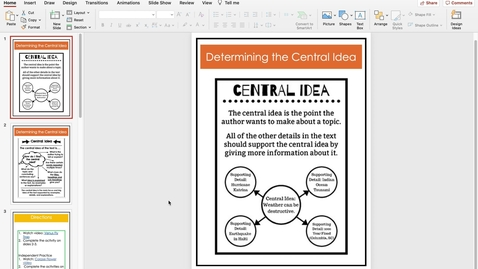 Thumbnail for entry Determining the Central Idea