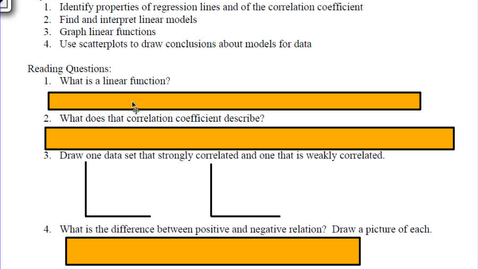 Thumbnail for entry 2.2 Linear Models and correlation