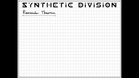 Thumbnail for entry Remainder Theorem