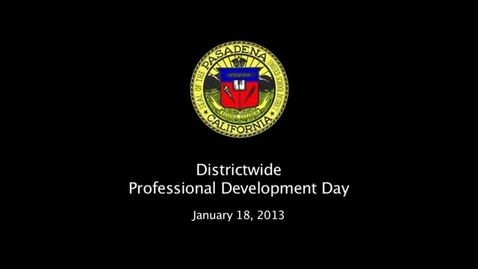 Thumbnail for entry Districtwide PD Day - Introduction by Superintendent Gundry