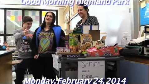 Thumbnail for entry Monday, February 24, 2014