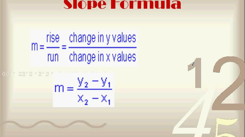 Thumbnail for entry Slope Formula