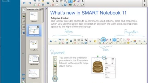 Thumbnail for entry Smart Notebook11 - 3. Actions Part I