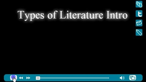 Thumbnail for entry Types of Literature slide show and quiz
