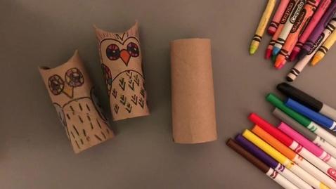 Thumbnail for entry Kindergarten Owl Sculptures