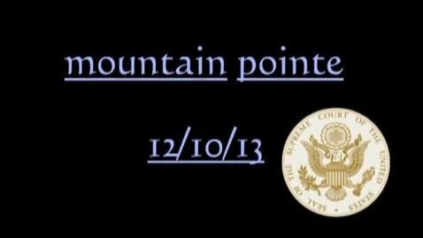 Thumbnail for entry The Arizona Supreme Court at Mountain Pointe