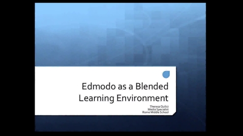 Thumbnail for entry Edmodo in the Classroom