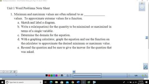 Thumbnail for entry Unit 1 Word Problems Lesson